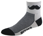 Mustache Socks - white