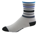 "Velo Stripes Socks 6"" - White"