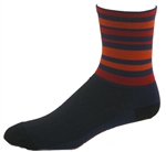 "Velo Stripes Socks 6"" - Navy"