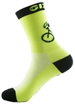 "G-Man Tall Socks 6"" - Neon Yellow"