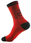 "G-Man Tall Socks 6"" - Red"