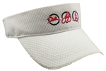Triathlon Running Visor - White