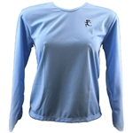 V-Tech Women's Long Sleeve Running Top - Lt. Blue