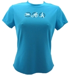 Triathlon - Women's Run Tech Shirt - s/s - Turquoise