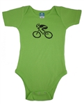 G-Man Bicycle Onesie - Green