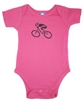 G-Man Bicycle Onesie - Hot Pink
