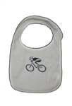 G-Man Bicycle Infant Bib - White