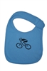 G-Man Bicycle Infant Bib - Blue