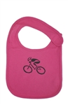 G-Man Bicycle Infant Bib - Hot Pink