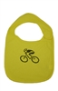 G-Man Bicycle Infant Bib - Yellow