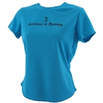 Addicted to Running - Tech Running Shirt - turquoise