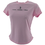 I Live. I Dream. I Run - Tech Running Shirt - pink