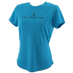 I Live. I Dream. I Run - Tech Running Shirt - Turquoise