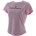 Running Is My Happy Hour - Tech Running Shirt - Pink
