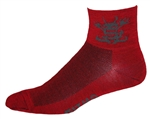 Devil Wooly-G Socks - red