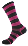 "Wooly-G Tall Stripes 8""- Neon Pink/Black"