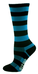 Bamboo Stripes Tall - Turquoise/Black