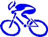 "G-Man Bicycle Die Cut Sticker 6"" - Blue"