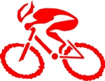 "G-Man Bicycle Die Cut Sticker 6"" - Red"