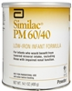 Similac PM 60/40 Low Iron Infant Formula, 14.1 oz. Can, Powder, 6/CS
