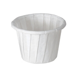 Solo White Paper Souffle/Portion Cup, 0.75 oz., 5000/CS