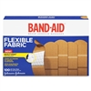 "Band-Aid Adhesive Bandages Fabric Strip, 1"" x 3"", Flexible, Tan, 100/BX"