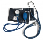 Lumiscope Professional Combo Kit, BP Cuff w/ Stethoscope, Dark Blue
