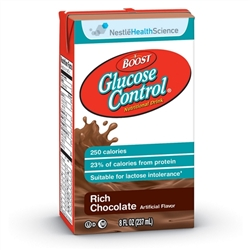 Boost Glucose Control Oral Supplement, Rich Chocolate Flavor, Ready to Use, 8 oz. Container, Carton, 27/CS