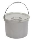 Replacement Commode Pail with Lid, 12/CS