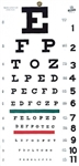 Snellen Hanging Eye Chart, 20'
