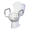 Riser Seat, Premium, With Removable Arms, Elongated Toilet