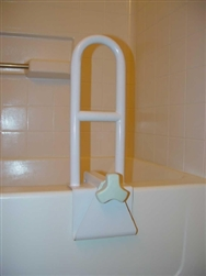 Bathtub Grab Bar sunmark® 6W X 14H Inch White