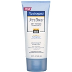Sunblock Neutrogena, Ultra Sheer, SPF 85, Tube Lotion, 3 oz.