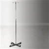 IV Pole, 4-Leg, 2-Hook, Chrome Plated, Wheeled