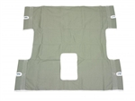 Drive Medical Seat and Back Commode Sling, 2 or 6 Point, Without Head Support, Chainless, Green, 600 lbs. Weight Capacity