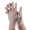 McKesson Vinyl Exam Gloves, Large, Clear, P/F, Smooth, Ambidextrous, 150/BX, 10BX/CS
