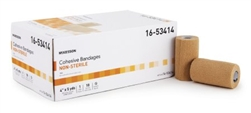 "Cohesive Bandage, McKesson, 4"" X 5 Yard, Self-adherent Closure, Tan, 18/CS"