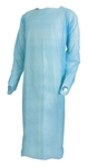 McKesson Fluid-Resistant Isolation Gown, Large, Blue, Thumb Loop, Adult, Disposable, 20/BX
