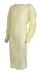 McKesson Isolation Gown, One Size Fits Most, Yellow, Thumb Loop, Adult, Disposable, 10/PK 10 PKS/CS