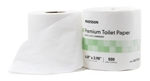 "McKesson Premium Toilet Tissue, White, 2-Ply Standard Size Cored Roll, 500 Sheets 3.98 X 4.49"", 80/CS"