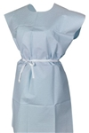 McKesson Patient Exam Gown One Size Fits Most, Adult, NonSterile, Blue, 50/CS