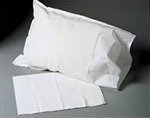 "Pillowcase, White, Standard, 21""x30"", Disposable, 100/CS"