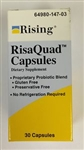 RisaQuad Probiotic Dietary Supplement Capsules, 30/Bottle