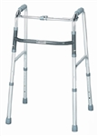 "Single Release Folding Walker Adult sunmark® Aluminum 300 lbs. Adjustable 32""- 36"""