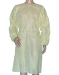 Fluid Resistant Isolation Gown, Yellow, 50/CS