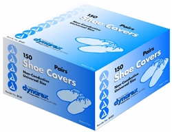 Dynarex, Shoe Covers, Anti-Skid, Blue, 150 PR/CS
