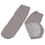 Soft Sole Slipper Socks, 2XL, Grey, 1 Pair