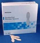 "Double End Wooden Spoons, 3"", 1000/BX"