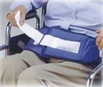 Chair Waist Belt Restraint, Self-Release Softbelt w/ Hook & Loop Closure