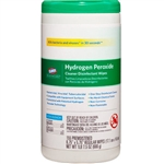 Clorox Hydrogen Peroxide Wipes, 6.75 x 5.75, 155/Canister